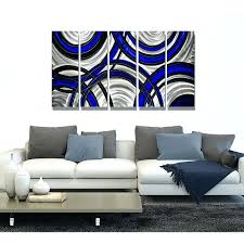 Metal Palm Tree Wall Decor Blue Synergy Blue Black And Silver