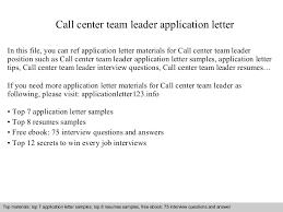 Sample Resume For Call Center Agent by Callcenterteamleaderapplicationletter 140904195046 Phpapp01 Thumbnail 4 Jpg Cb U003d1409860273