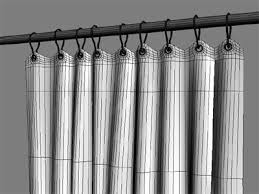 Shower Curtain Wire Curtain 3d Model
