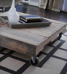 reclaimed wood coffee table with casters home furniture raka
