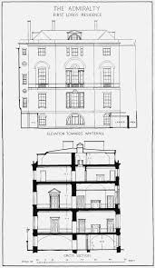 plate 46 admiralty house elevation towards whitehall and cross