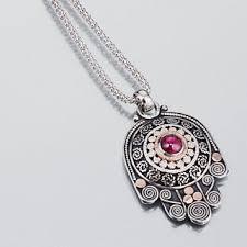 hamsa sterling silver necklace images Hamsa sterling silver hamsa necklace from gefenjewelry on etsy jpg