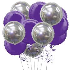 inflated helium balloons delivered 15 inflated purple and silver foil balloons not just balloons