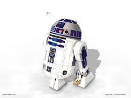 r2 d2 star wars papercraft