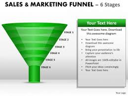 visual search layered funnel 6 stages powerpoint slides