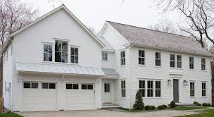 modern farmhouse exterior with columnless roof awning exterior