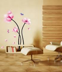 Home Wallpaper Decor by Amazon Com Pink Magnolia Flowers Wall Stickers Diy Mural Art