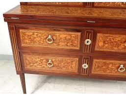 bureau marqueterie secrétaire louis xvi marqueterie fleurs bois debout marbre xviiième