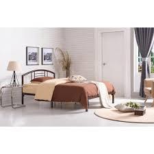 hodedah hodedah low line full size metal bed with headboard in