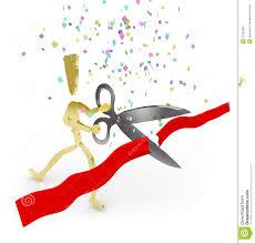 grand opening ribbon grand opening ribbon cutting e royalty free stock photos image