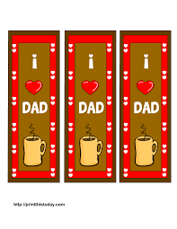 free printable father u0027s day bookmarks