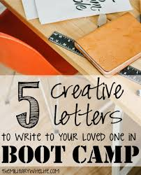5 creative letters to write to your loved one in boot camp boot