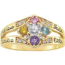 personalized birthstone ring keepsake personalized daydream s birthstone ring walmart