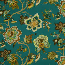 Upholstery Fabric For Chairs by On Sale Teal Gold Floral Upholstery Fabric For Furniture From
