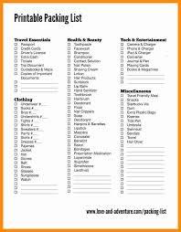 travel packing checklist template eliolera com
