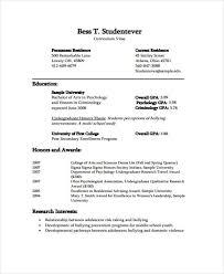 undergraduate curriculum vitae pdf sles 11 student curriculum vitae templates 10 free word pdf format
