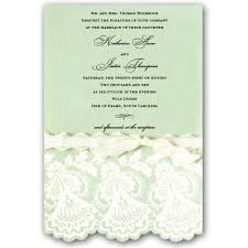 Mint Wedding Invitations Embossed And Diecut Mint Wedding Invitations Paperstyle
