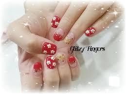 nail art glitzy fingers