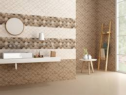 This ceramic wall tile by Nitco has a satin wall finish and adds an interesting texture to any interior space