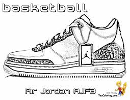 basketball shoes coloring pages getcoloringpages com