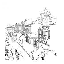 Coloriage Paysage de ville dessin gratuit à imprimer