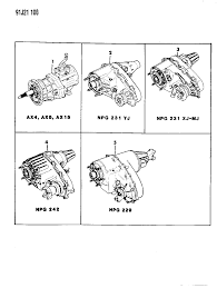 manual transmission and transfer case assemblies for 1993 jeep