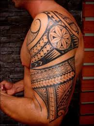 arm tattoo of maori polynesian style for men hawaiian tattoos