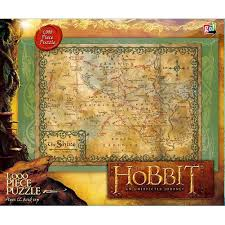 The Shire Map The Hobbit Map Of Shire 1000 Piece Puzzle 9781620213407