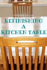 Refinishing A Kitchen Table by Refinishing A Kitchen Table A Step By Step Diy Makeover
