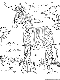 zebra coloring pages free printable kids coloring pages