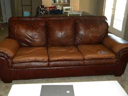 Soft Leather Sofa Brown Leather Sofa With Light Brown Three Seat Placed On The Gray