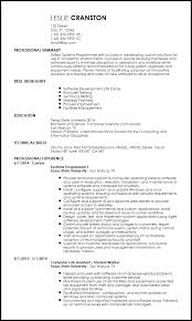 resume template entry level free entry level programmer resume templates resumenow