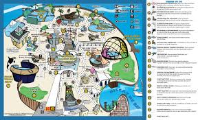 South Beach Florida Map by Park Map Miami Seaquarium