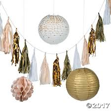 gold hanging decorations kit