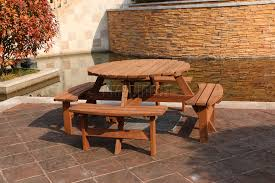 bench round wooden garden table bench round wooden picnic table