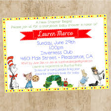 Baby Shower Invitations Bring A Book Instead Of Card Book Themed Baby Shower Ideas Storybook Baby Shower Ideas
