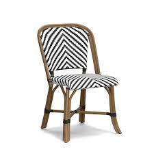 Navy Bistro Chairs Parisian Bistro Woven Side Chair Williams Sonoma