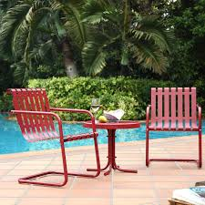 Retro Metal Patio Furniture - coral coast florentino all weather wicker 5 piece patio chat set