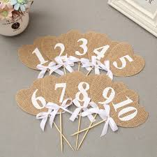 cake topper numbers jute wedding cake topper marriage anniversary table number