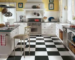 black and white tile floor kitchen homes design inspiration