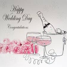 wedding day congratulations wedding day congratulations champagne flowers ll249 cards