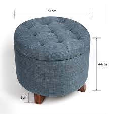 Storage Ottoman Stool by Soft Round Storage Ottoman Stool Footstool With Button Tufted Top