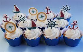 nautical cake toppers 12x nautical edible cupcake cake toppers pre cut stand up birthday