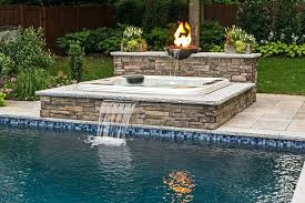 diy pool waterfall building a pool waterfall water features diy above ground pool