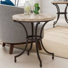 travertine top coffee table round travertine stone top side table with rubbed bronze metal base