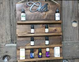 Barnwood Bookshelves by Essential Oil Shelf Etsy
