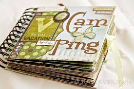 small scrapbook album cing mini album