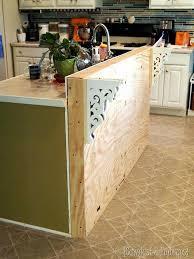 how to add a kitchen island schönheit diy kitchen island countertop add a breakfast bar to an