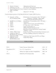 Part Time Job Resume Objective by 1 Anoop M U0026amp I Resume