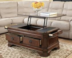 coffee tables attractive furniture rectangle brown wooden coffee